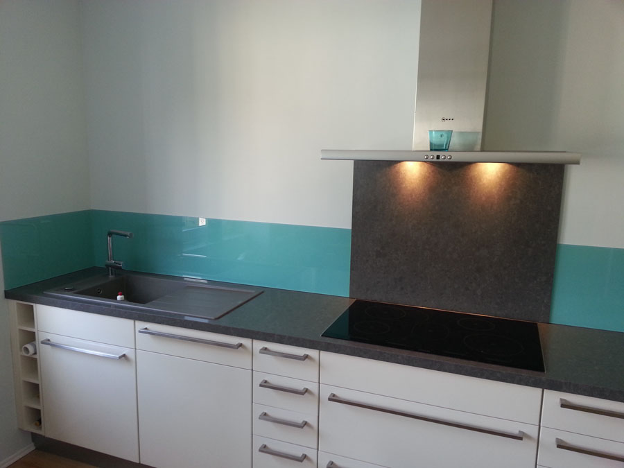 Glas-Küchenspritzschutz -